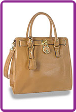 Fashion Tote with Padlock Accent
