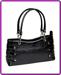 Stylish faux leather shoulder bag with crocodile embossed