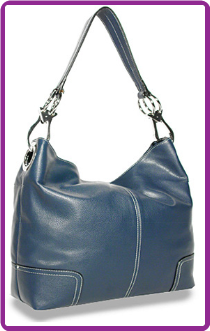 Ring Accented Medium Hobo Handbag