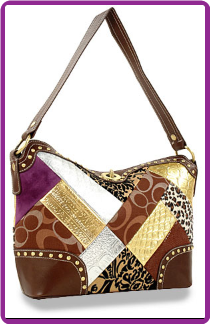 Signature Patchwork Twist Lock Hobo Handbag