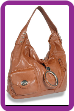 Front Pocket Ring Accented Front Flap Hobo Handbag