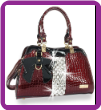 Bling Embossed Patent Handbag