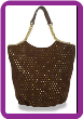 Star Design Laser Cut Tall Layered Handbag