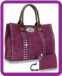 Large Twist-Lock Handbag Set
