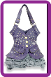 Purple Vest Design Tall Handbag