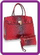 Embossed Large Classic Tote Set