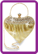Rhinestone Mesh Heart Shaped Evening Bag
