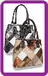 Signature Patchwork Dual Compartment Tall Tote Handbag