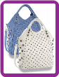 Tall Studded Tote Handbag